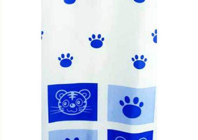 Cat Blue cortina de baño